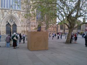 """A big """"Immovable"""" block of stone appeared in front of the York Minster in June"""