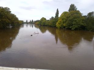 The River Ouse flooded in September!