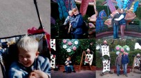 This is a collage I create of photos taken in 1997 on our first trip to Disneyland Paris just before my son's 3rd birthday and our trip last year for his 18th.
