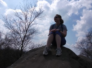 Adam didn't want to climb this rock so he took a picture of me instead.