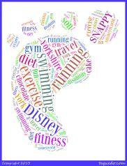 Me - Footprint Word Cloud