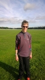 My Boy just after a parkrun in October 2013