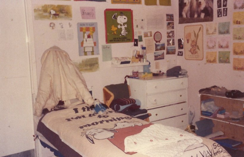 My bed area in the 3rd year dormitory 1986