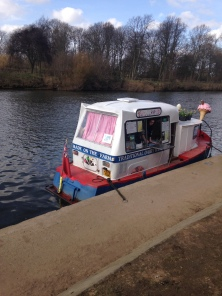 We have an ice cream boat on the River Ouse in the Summer