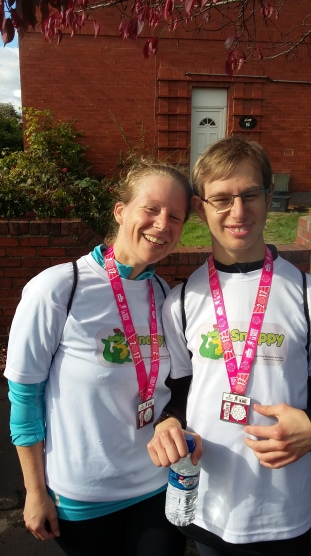 Finished the York 10 Mile with Adam, my running buddy